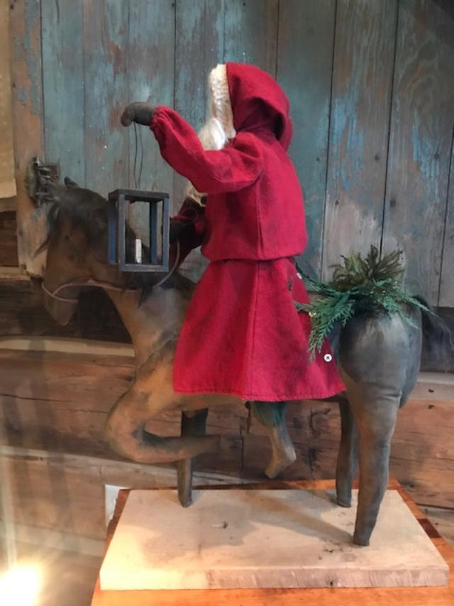 #CF ST HRS wcdr CF Santa Riding Horse w/cedar