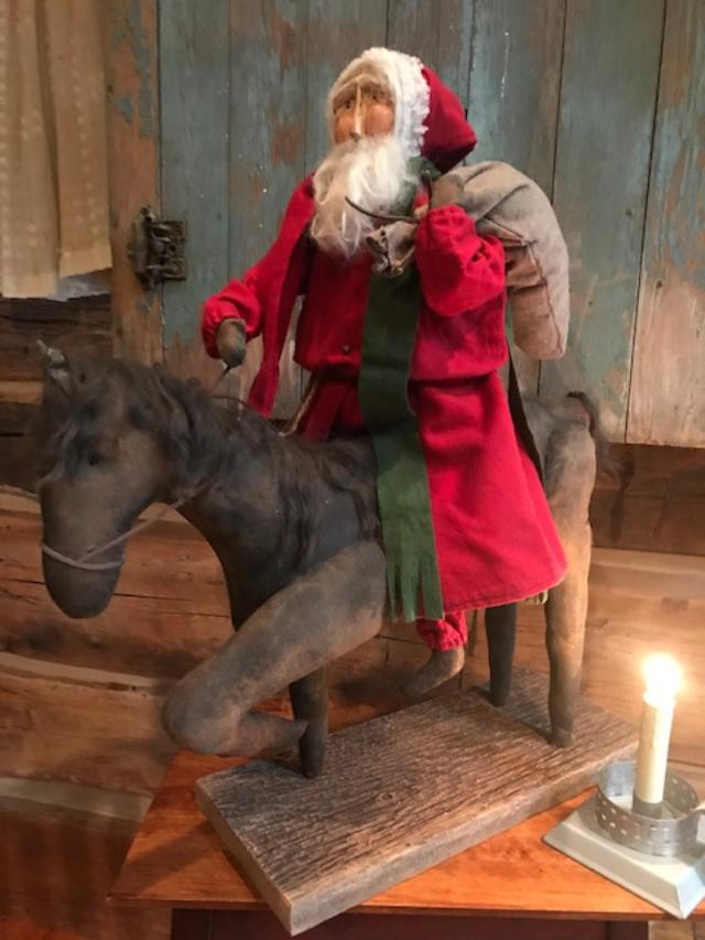 CF Santa Riding Horse w/bag