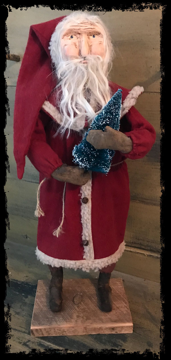 #CF ST wtr CF Santa w/tree