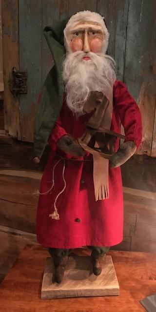 CF Santa w/Rocking Horse LG SIZE