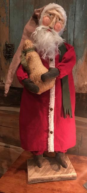 #CF ST w snwmn LG CF Santa w/Snowman  LG SIZE